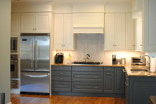 All gray cabinets