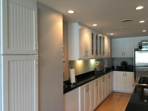 All white cabinets